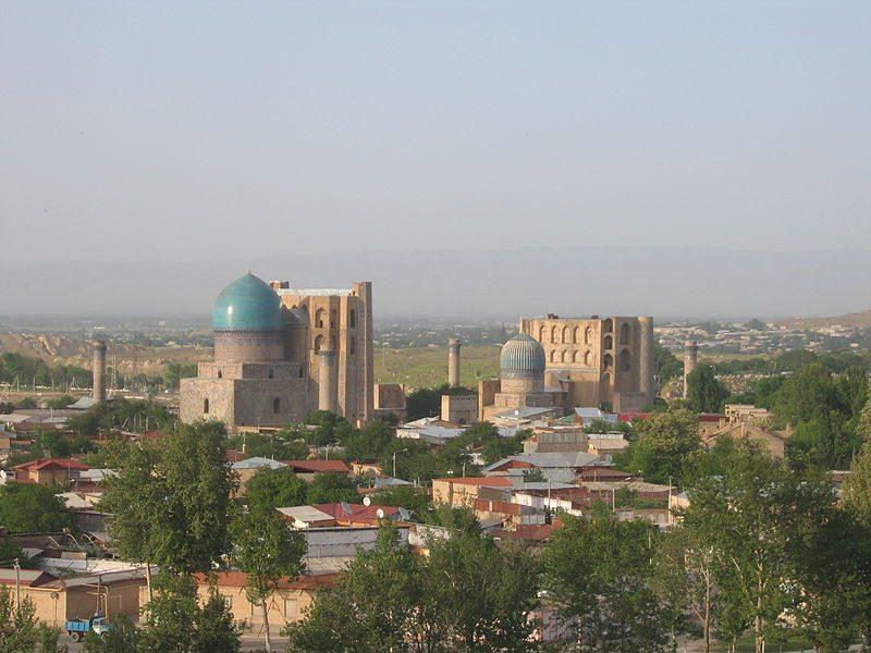 Blick auf die Bibi-Khanum-Moschee (© Gilad Rom / Wikimedia / CC) Smarkand