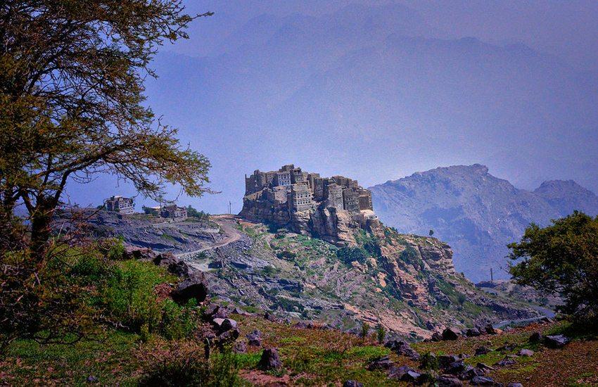 Bergdorf Haraz, Jemen (Bild: Rod Waddington, Wikimedia, CC)