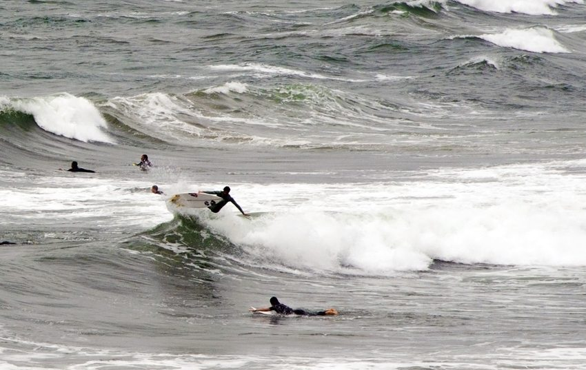 Surfing in Biarritz (Bild: Gaël LE HIR, Wikimedia, CC)