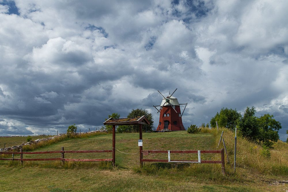 Windmühle auf Öland (Bild: Grand Parc - Bordeaux, France, Wikimedia, CC) Schweden Ferien