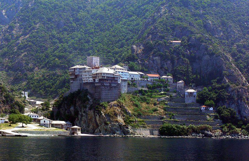 Kloster Dionisiou auf dem Berg Athos in Griechenland (Bild: Fingalo, Wikimedia, CC)