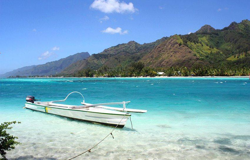 Lagune Motu Moéa (Bild: DANIEL JULIE, Wikimedia, CC)