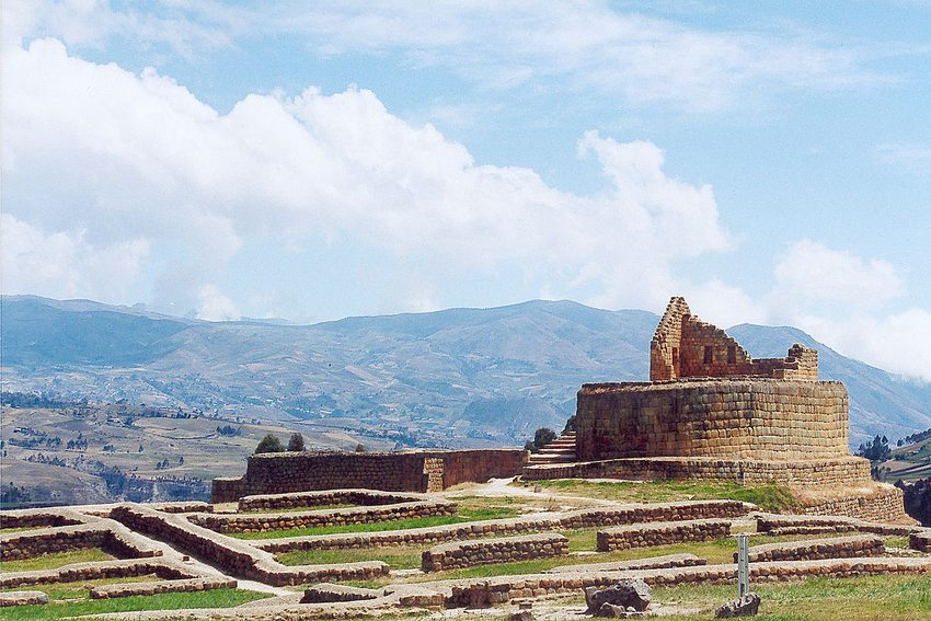 Inka-Ruinen in Ingapirca (Bild: Delphine Ménard, Wikimedia, CC)