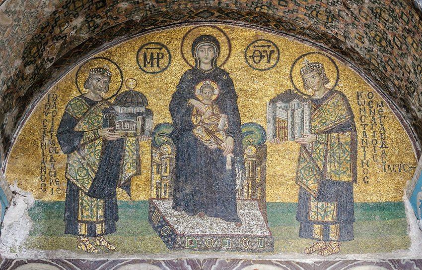 Freigelegtes Mosaik in der Hagia Sophia (Bild: Myrabella, Wikimedia, CC)