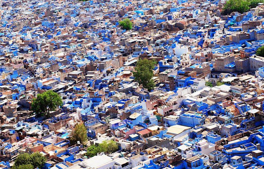 Die blaue Stadt Jodhpur in Indien (Bild: Marc Hoffmann, Wikimedia, CC)