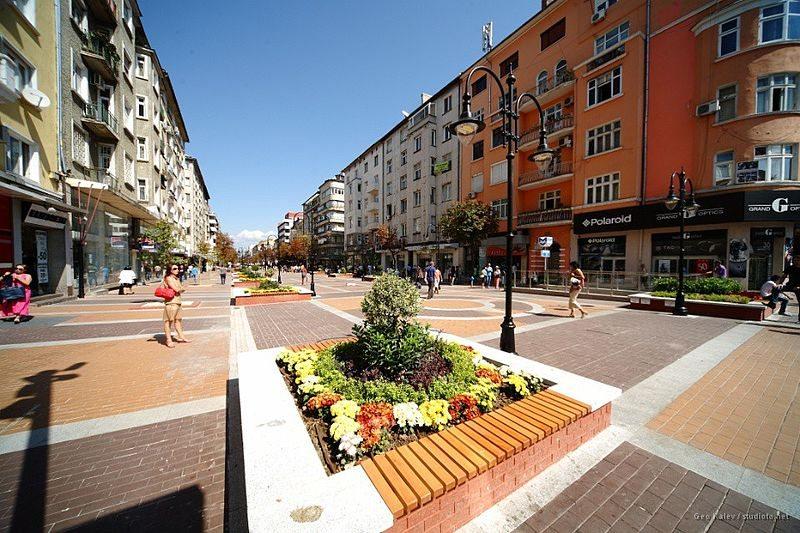 Sofias Flaniermeile Boulevard Vitosha (© studiofo.net / Wikimedia / CC)