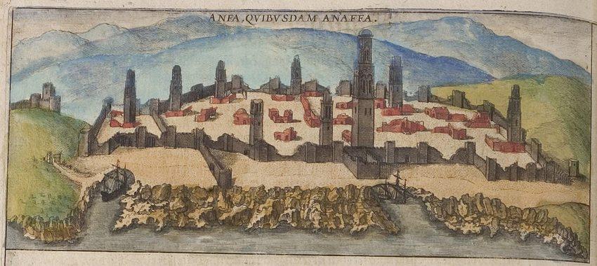 Anfa 1572 (Bild: Georg Braun, Frans Hogenberg, Wikimedia)