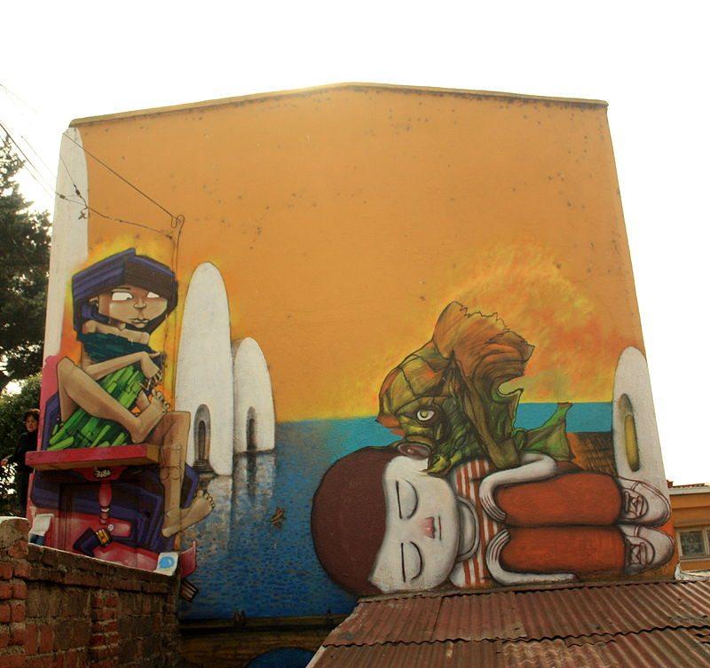Strassenkunst in Valparaíso (© Silk666 / Wikimedia / CC)
