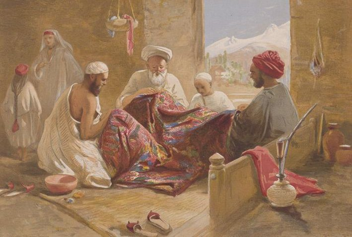Seit jeher wurde Kaschmir durch seine Schafwolle bekannt. (Bild: William Simpson, Wikimedia)