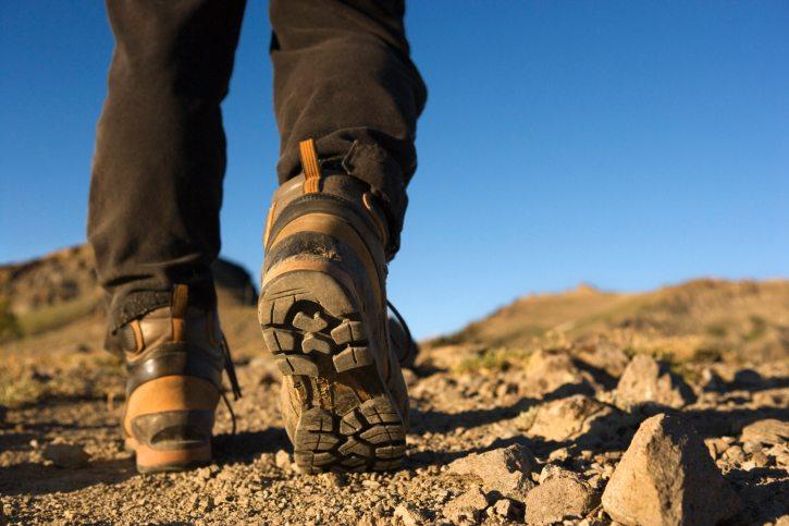 Die Wahl der Wanderschuhe ist von entscheidender Bedeutung. (Bild: