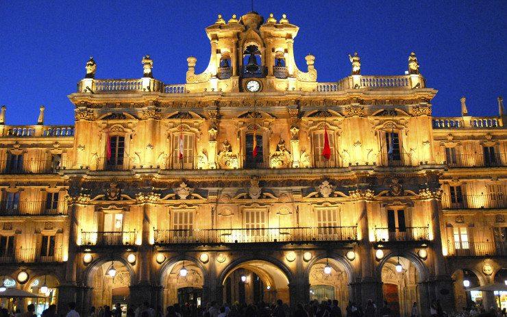 Die Casas Consistoriales, historische Verwaltungsräume und Rathaus von Salamanca (© Jentges / Wikimedia / CC)