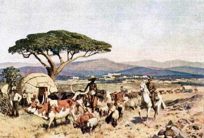 Umgebung von Windhoek zur deutschen Kolonialzeit (Bild: Rudolf Hellgrewe, Wikimedia)