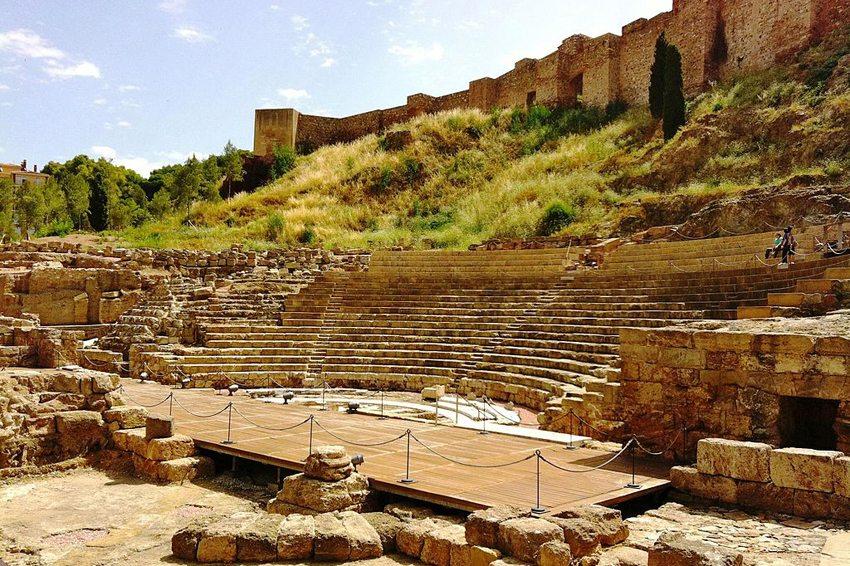 Teatro Romano von Málaga (Bild: andynash, Wikimedia, CC)