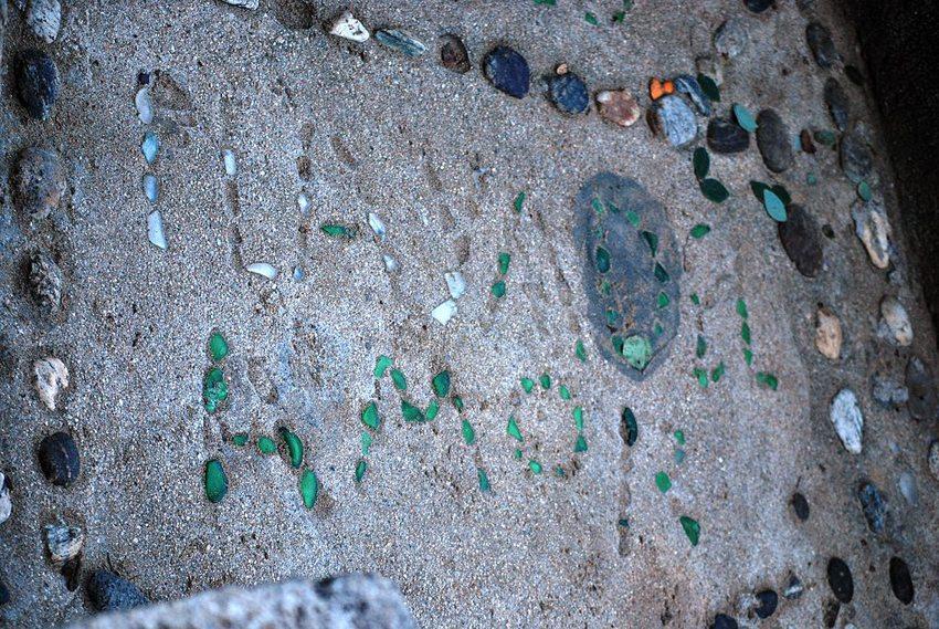 """Playa del Amor"" –Inschrift auf dem Hidden Beach in Mexico (© AlejandroLinaresGarcia, Wikimedia, GNU)"