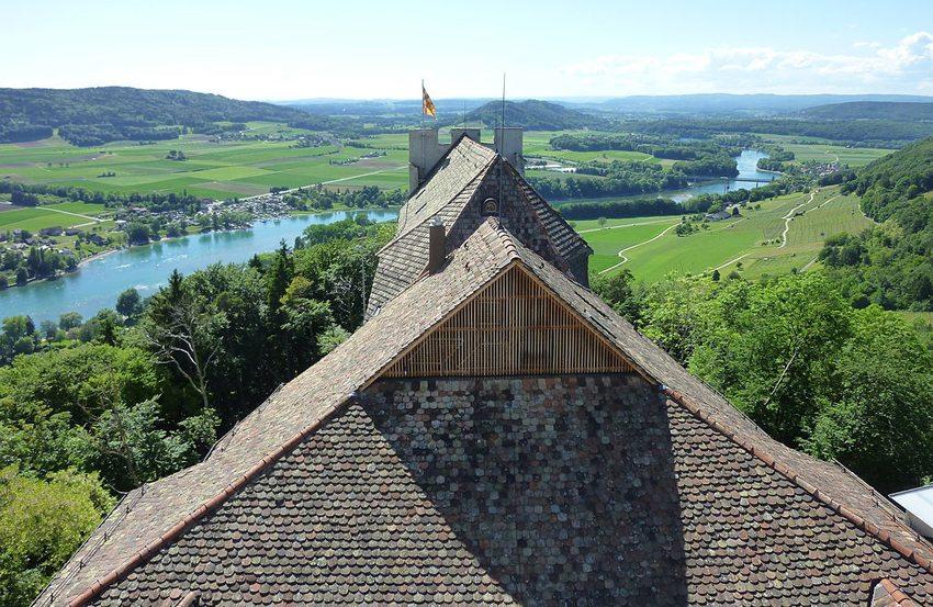 Die Aussicht von der Burg Hohenklingen (Bild: Adrian Michael, Wikimedia, CC)