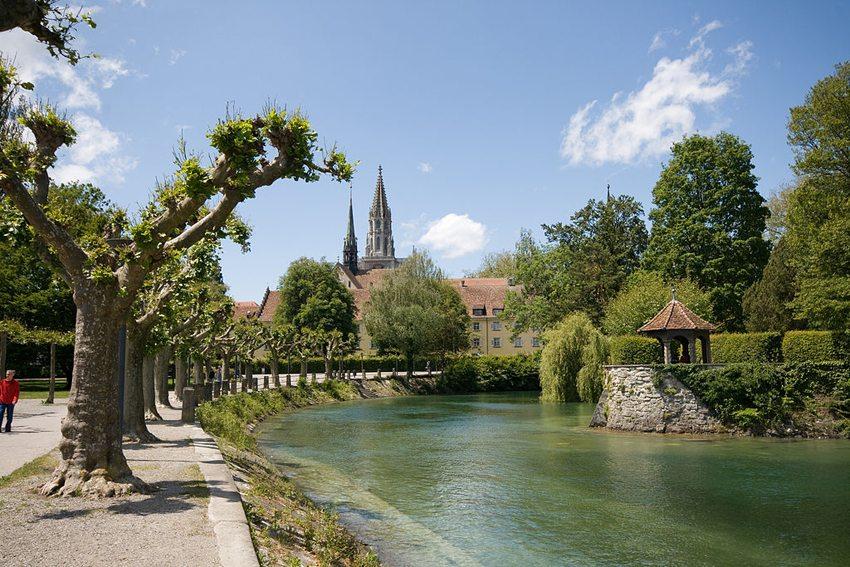 Blick vom Konstanzer Stadtgarten in Richtung Altstadt (Bild: Rizzo, Wikimedia, GNU)