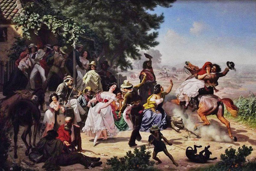 Fandango – Gemälde von Charles Christian Nahl, 1873 (Bild: Amadscientist, Wikimedia, CC)