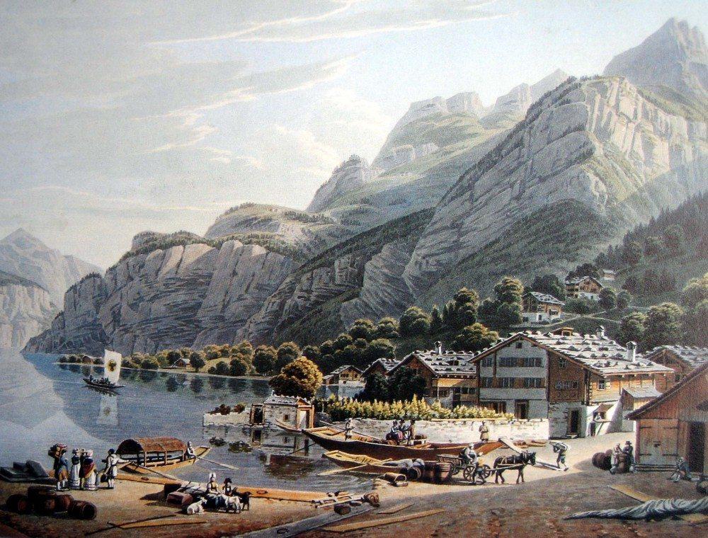 1820, Schifflände Flüelen (Bild: © Adrian Michael)
