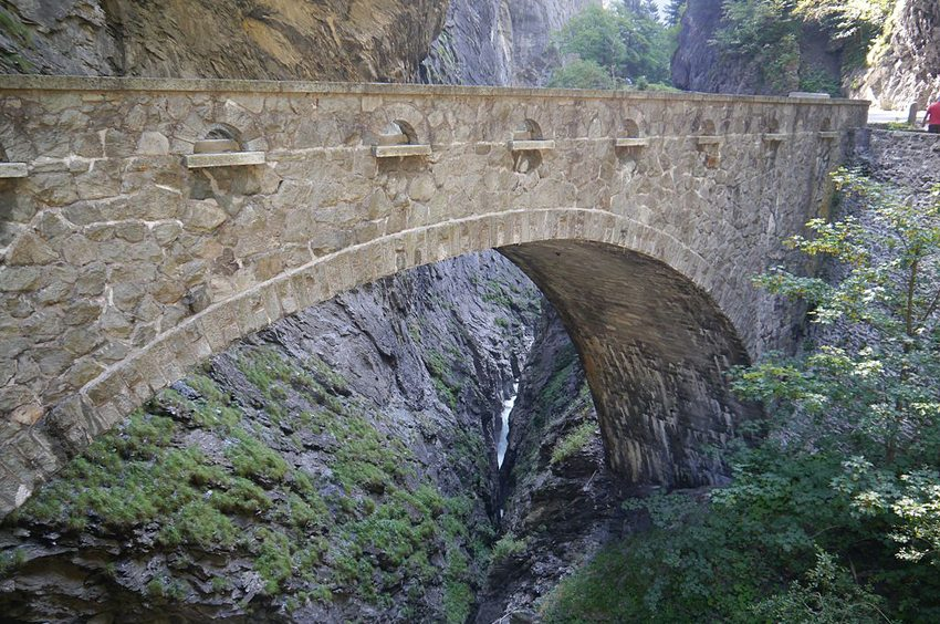Via Mala-Schlucht bei Thusis, Kanton Graubünden (Bild: Zairon, Wikimedia, CC)