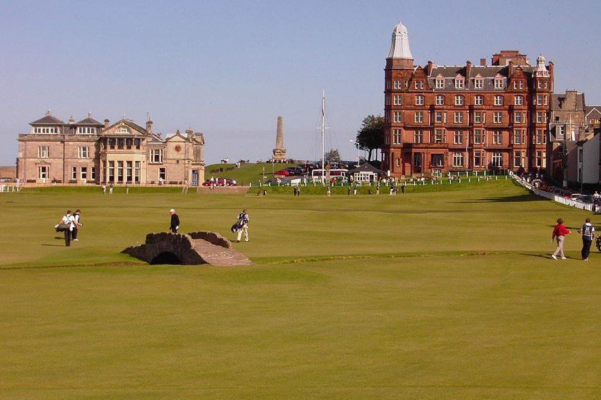 The Old Course at St. Andrews in Schottland (Bild: WINNI, Wikimedia, GNU)