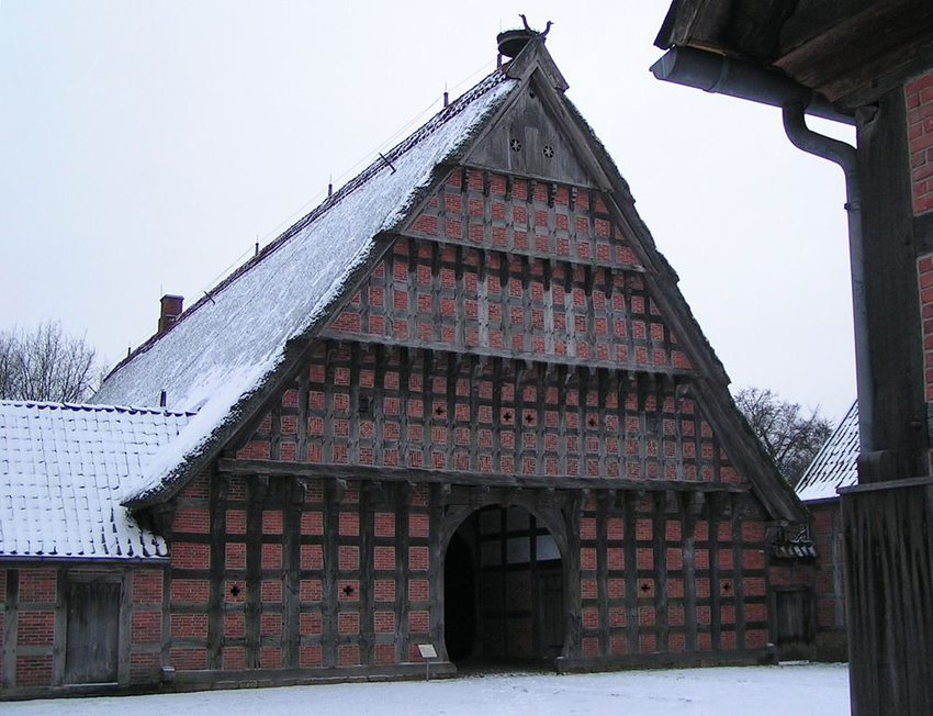 Wehlburg im Museumsdorf Cloppenburg, erbaut 1750 (Bild: Corradox, Wikimedia, CC)