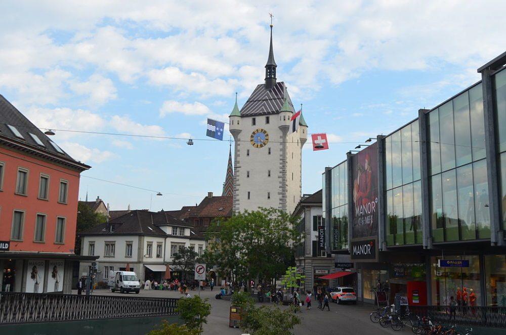 Stadtturm von Baden (Bild: Harubaba, Wikimedia, CC)