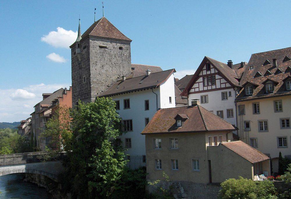 Der Schwarze Turm von Brugg (Bild: Voyager, Wikimedia, GNU)