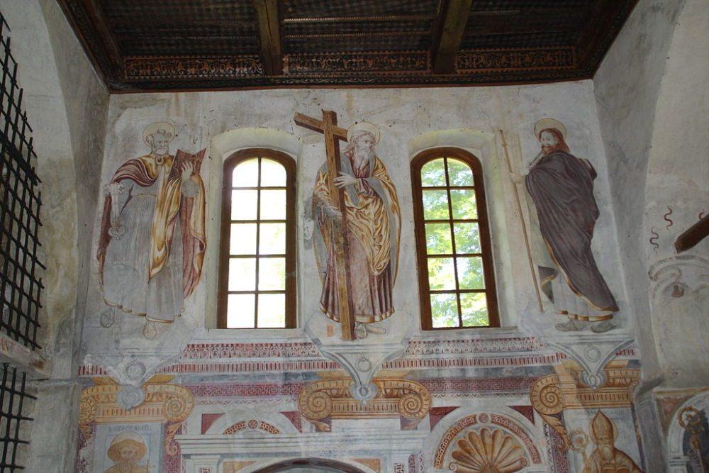 Wandmalereien in der Kirche San Pellegrino in Giornico  (Bild: Adrian Michael, Wikimedia, GNU)