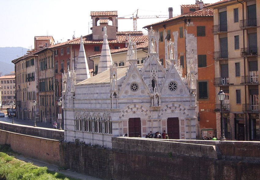 """Die Kirche """"Santa Maria della Spina"""" in Pisa (Bild: Elisabeth Naldera de Cassar, Wikimedia, CC)"""