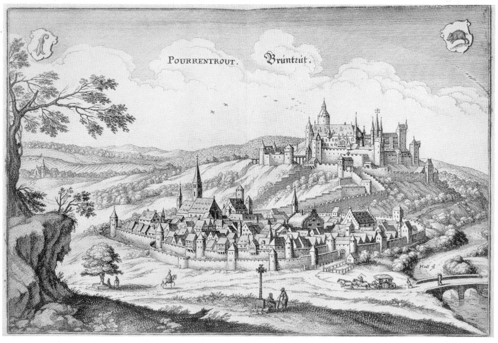 Porrentruy im 17. Jahrhundert (Bild: © Arnold Jaggi)