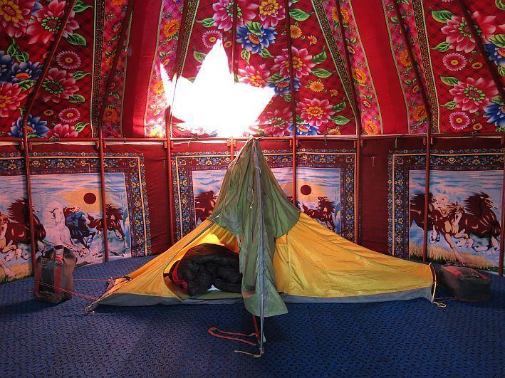 Jeden Tag mit Begeisterung aus dem Zelt krabbeln und mich auf den neuen Tag freuen. (Bild: © Heike Pirngruber)