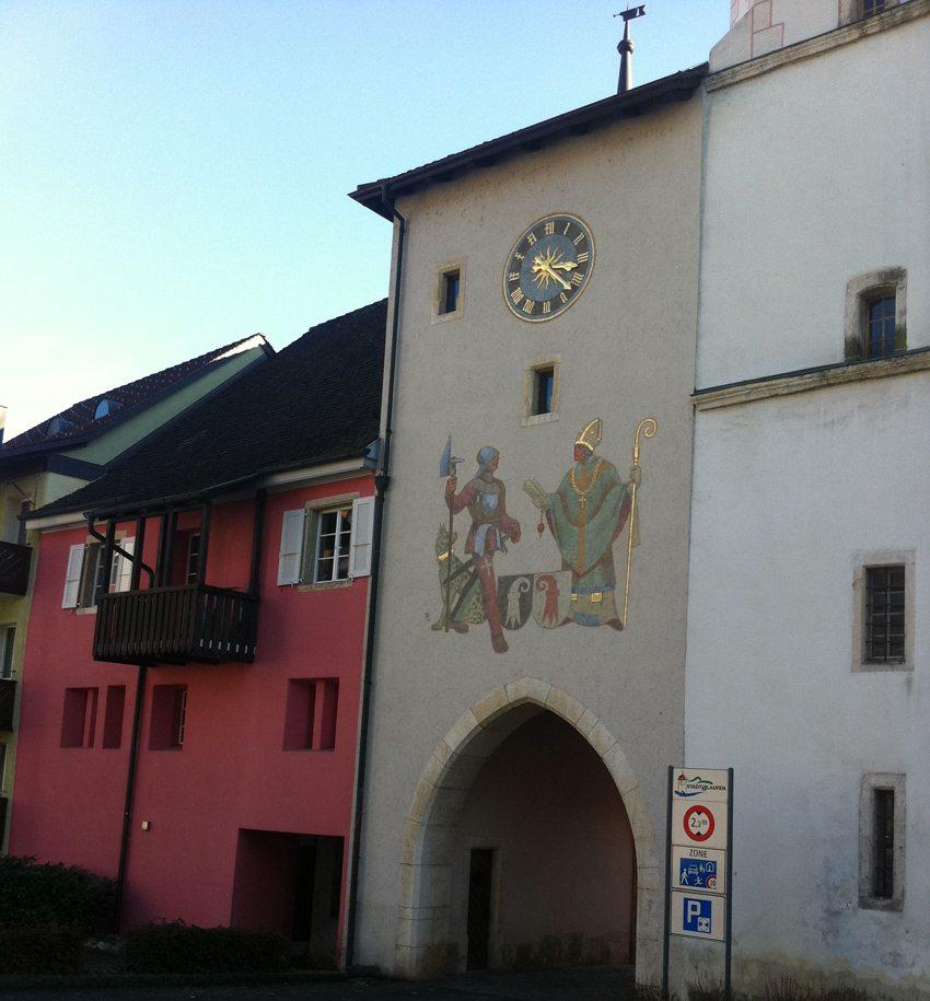 Ringmauer in Laufen (Bild: Wm1bl, Wikimedia, CC)