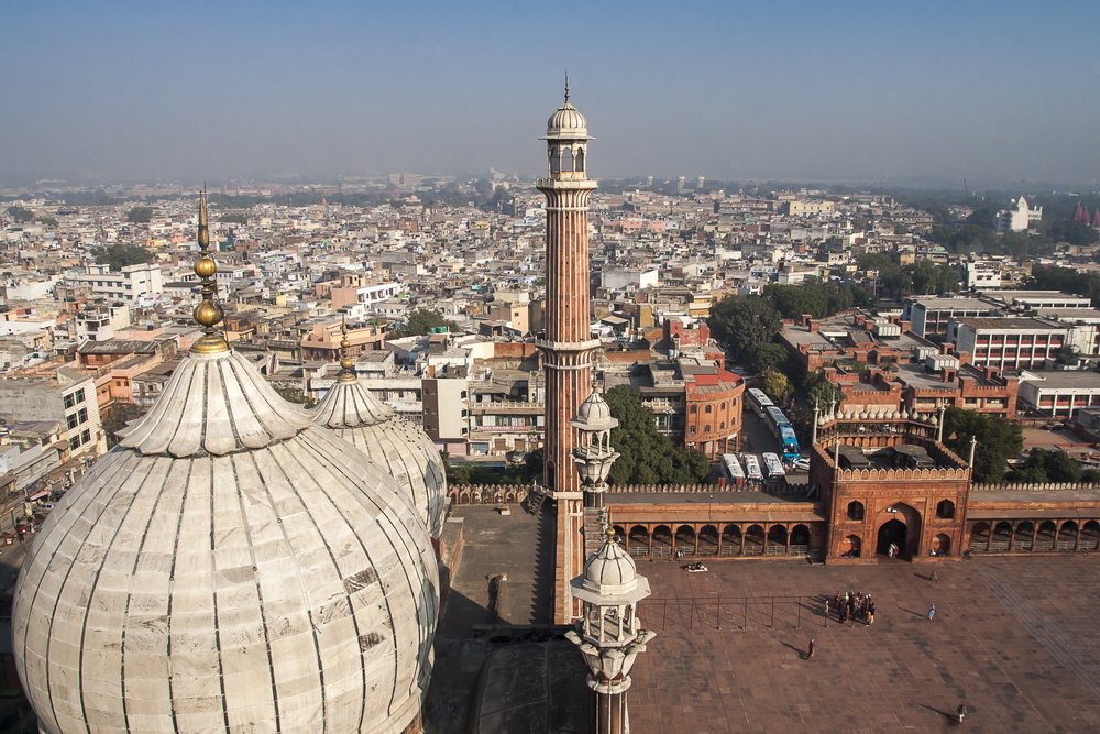 Blick auf Delhi von der Jama-Masjid-Moschee aus  (Bild: NOWAK LUKASZ / Shutterstock.com)