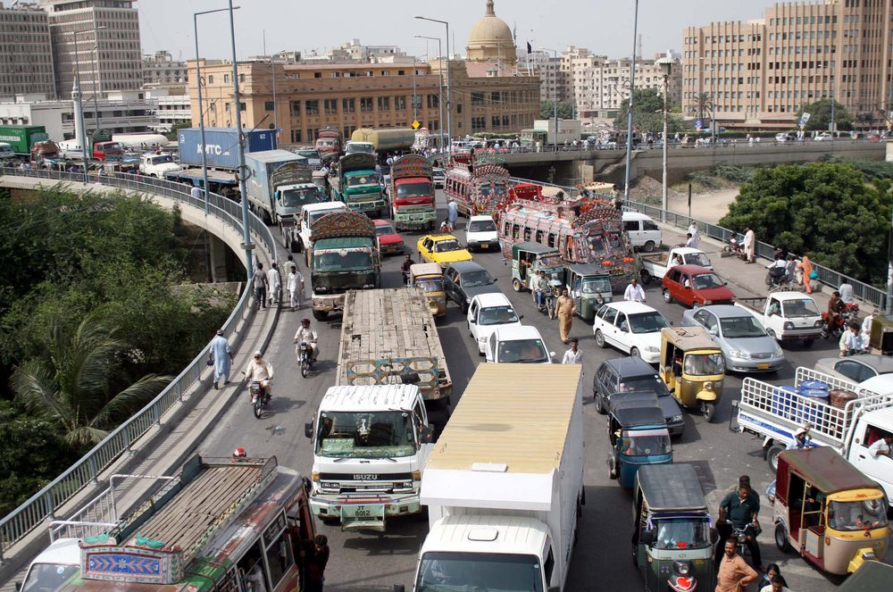 Verkehr in Karatschi (Bild: Asianet-Pakistan / Shutterstock.com)