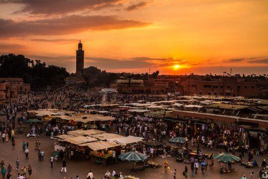 Auf dem Markt in Marrakesch (Bild: © Matej Kastelic - shutterstock.com)