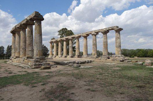Heratempel bei Metaponto (Bild: Σπάρτακος, Wikimedia, CC)