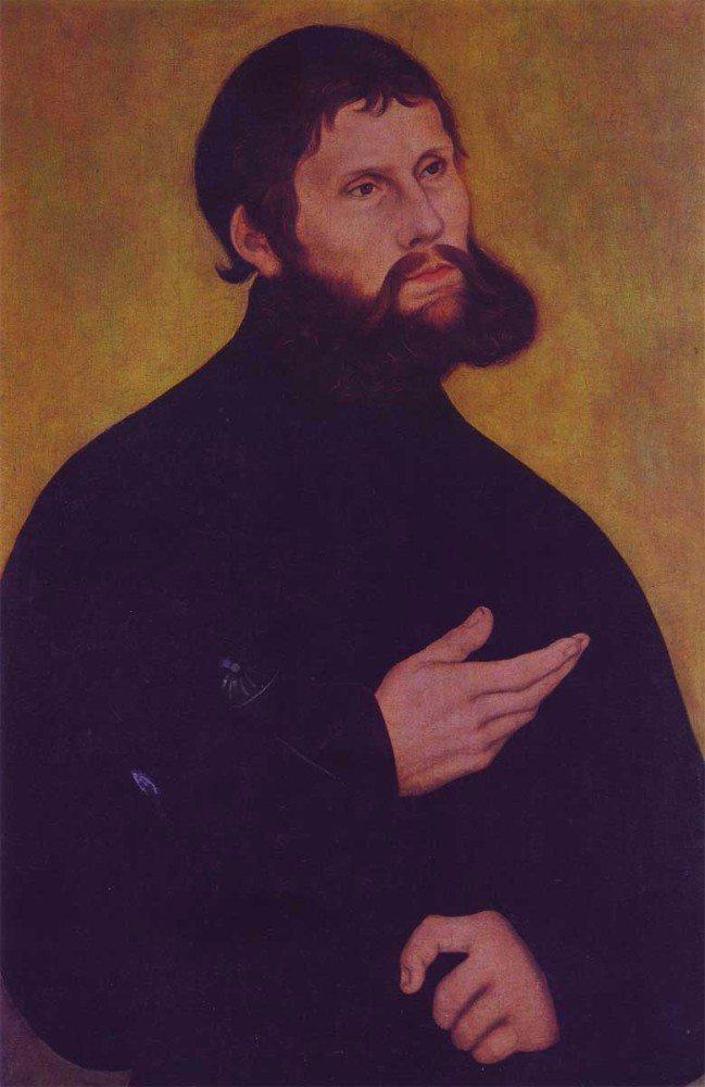"""Martin Luther als """"Junker Jörg"""" inkognito auf der Wartburg. (Bild: © Cranach Digital Archive)"""