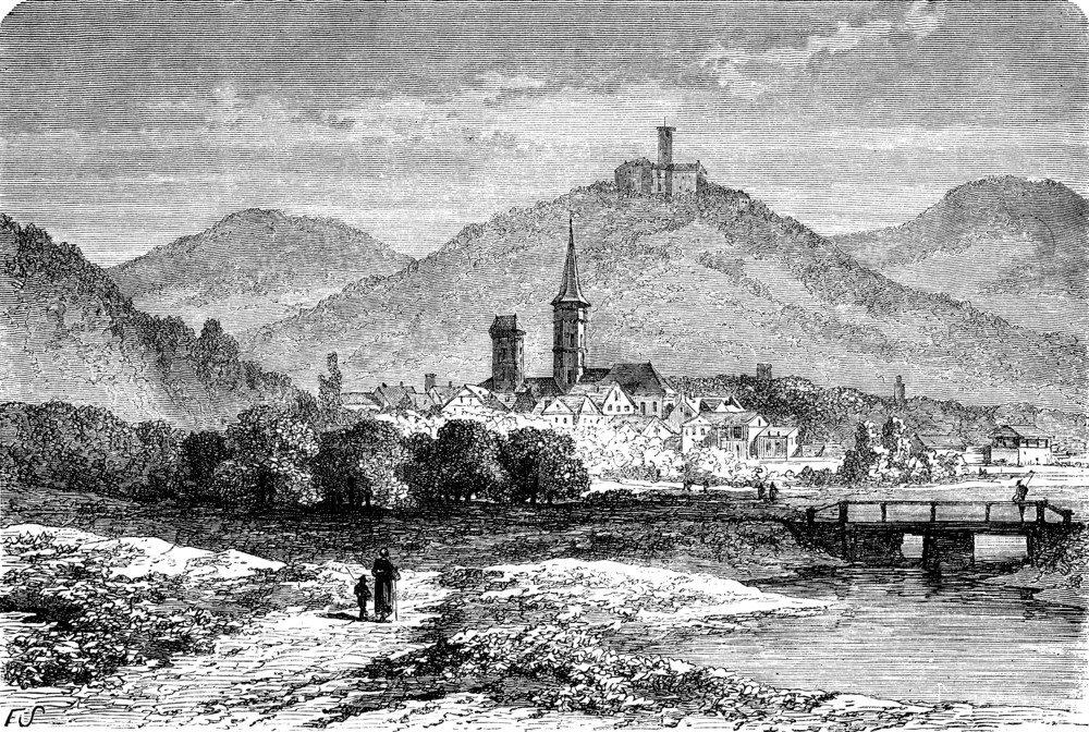 Eisenach um 1872 (Bild: © Morphart Creation - shutterstock.com)