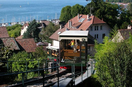 Die Drahtseilbahn von Thonon-les-Bains (Bild: Pymouss44, Wikimedia, GNU)