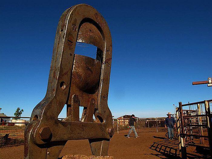Als Cowgirl auf einer riesigen Rinderfarm. (Bild: © Heike Pirngruber)