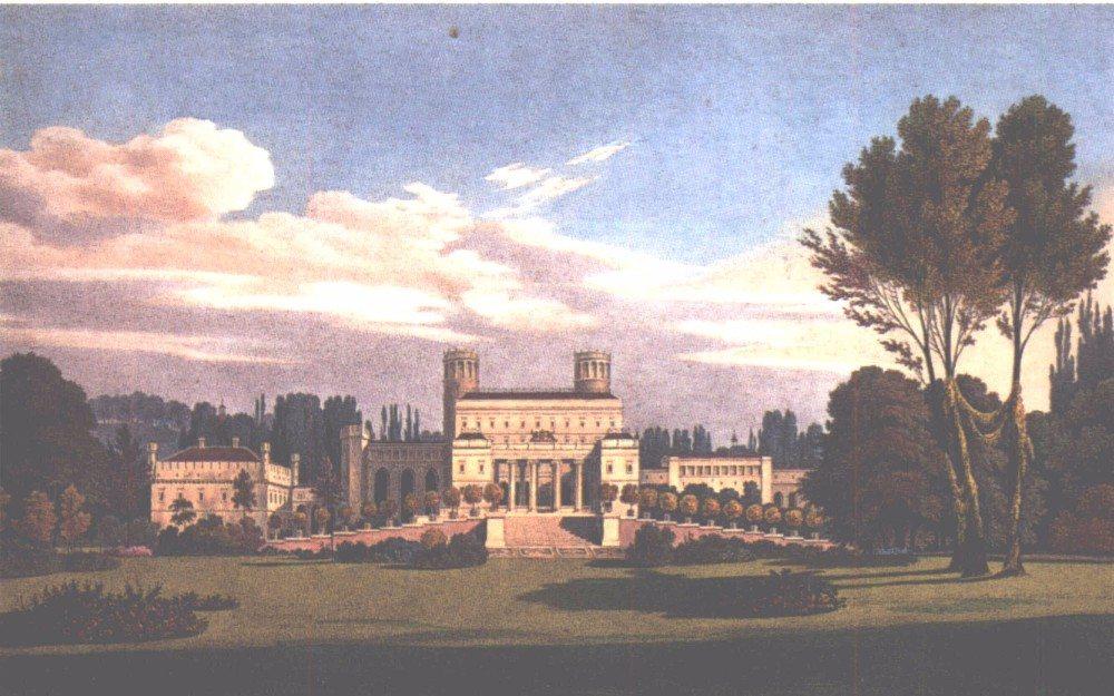 Das Muskauer Schloss (1834), wie es nach den von Schinkel geplanten Umbauten aussehen sollte. (Bild: © wiki.org)
