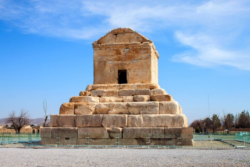 Die Grabstätte Kyros' II. des Großen in Pasargadae. (Bild: © mathess - fotolia.com)