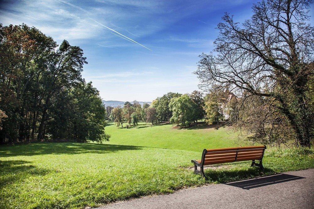 Nach Nordosten hin öffnet sich der Schlossplatz zum Hofgarten (Bild: © Brasto - fotolia.com)