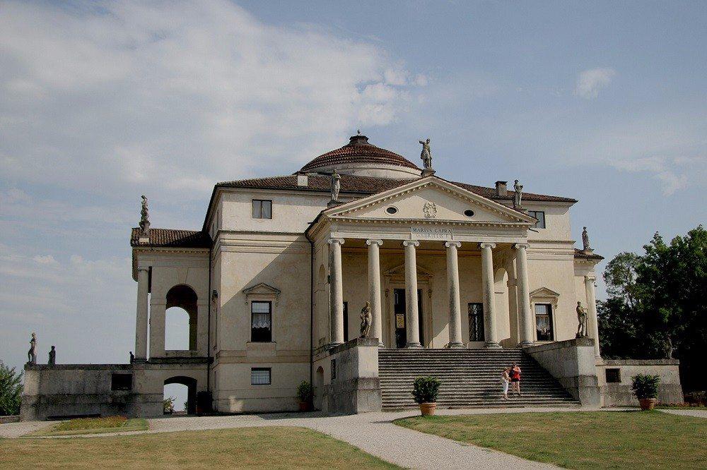 Eines der schönsten Werke der Palladio-Architektur in Vicenza ist die Villa La Rotonda. (Bild: © Quinok - CC BY-SA 4.0)