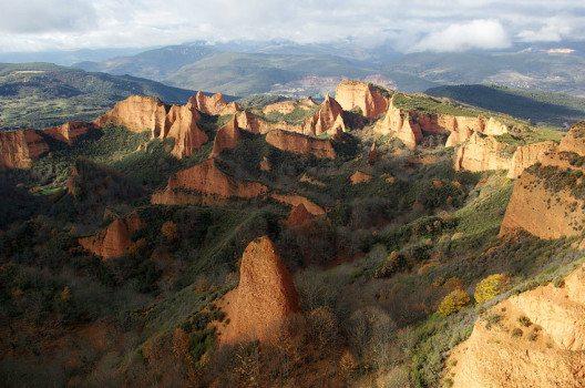 Die Landschaft von Las Medulas (Bild: David Perez, Wikimedia, CC)