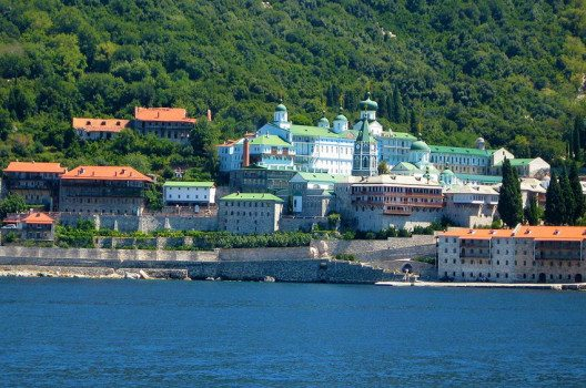 Kloster Panteleimon, besser auch unter dem Namen Rossikon bekannt. (Bild: Gabriel, Wikimedia, CC)