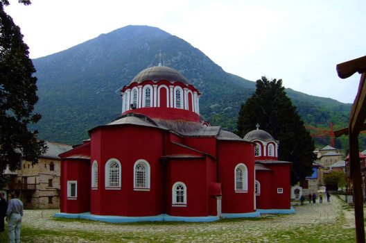 Hauptkirche im Kloster Megisti Lavra (Bild: Dimboukas, Wikimedia, public domain)