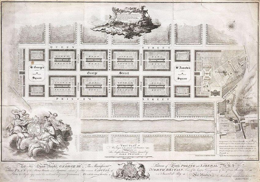 Plan von New Town aus dem Jahr 1768 (Bild: Geographicus Rare Antique Maps, Wikimedia, public domain)