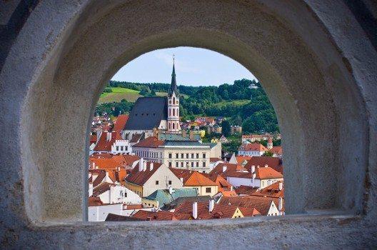 Von der Krumauer Mauer aus hat man eine schöne Aussicht über die Stadt.
