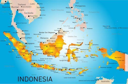 Übersichtskarte Indonesiens. (Bild: © Olinchuk - shutterstock.com)